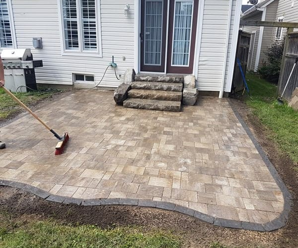 backyard paver installation