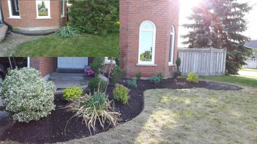Front Yard Garden Bed Design Mulch After 1