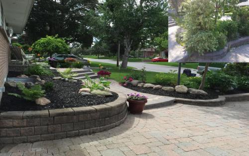 Front Yard Garden Pruning and Mulch
