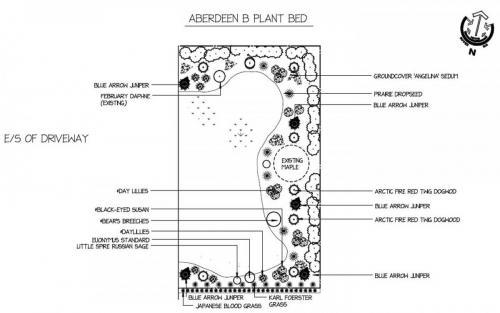 Garden Landscape Design Drawing 2