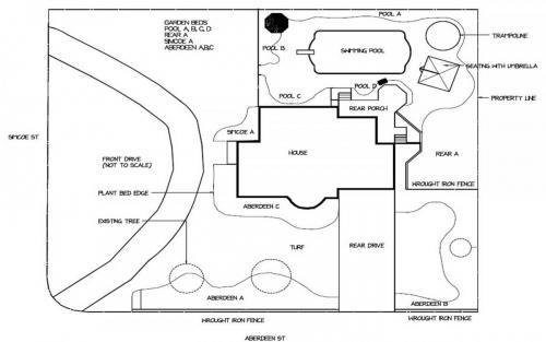 Garden Landscape Design Drawing 3
