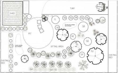 Garden Landscape Design Drawing 4