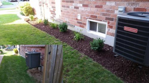 Gardening Flower Bed After