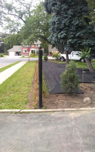 Large Garden Bed Installation  Landscape Fabric