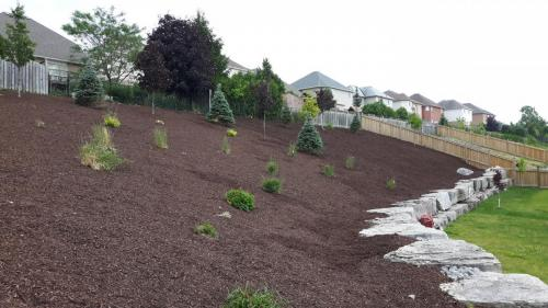 Large Garden Bed Mulch After 1
