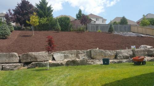 Large Garden Bed Mulch After 2