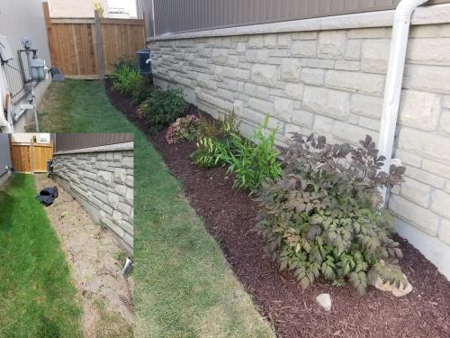 Side Yard New Garden Bed Design After