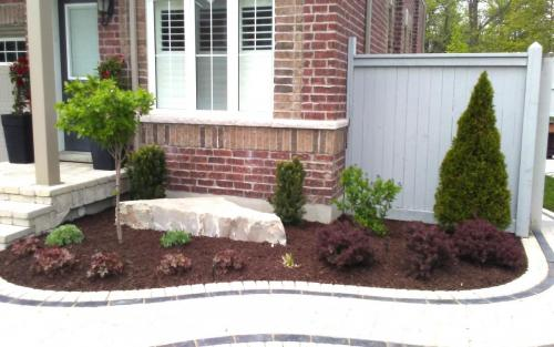 Small Garden Bed Planting  Mulching
