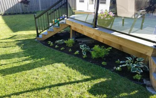 deck garden planting