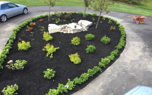 driveway garden design