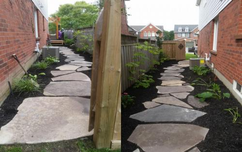 Flag stone path Gardening