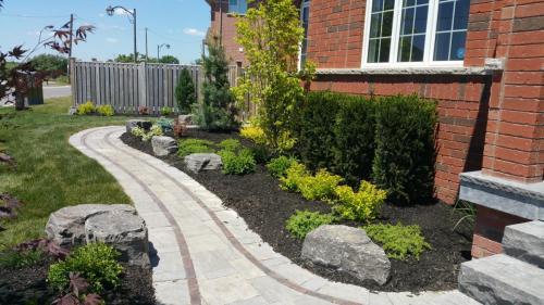 Front Patio Landscaping Landscape Garden After 1