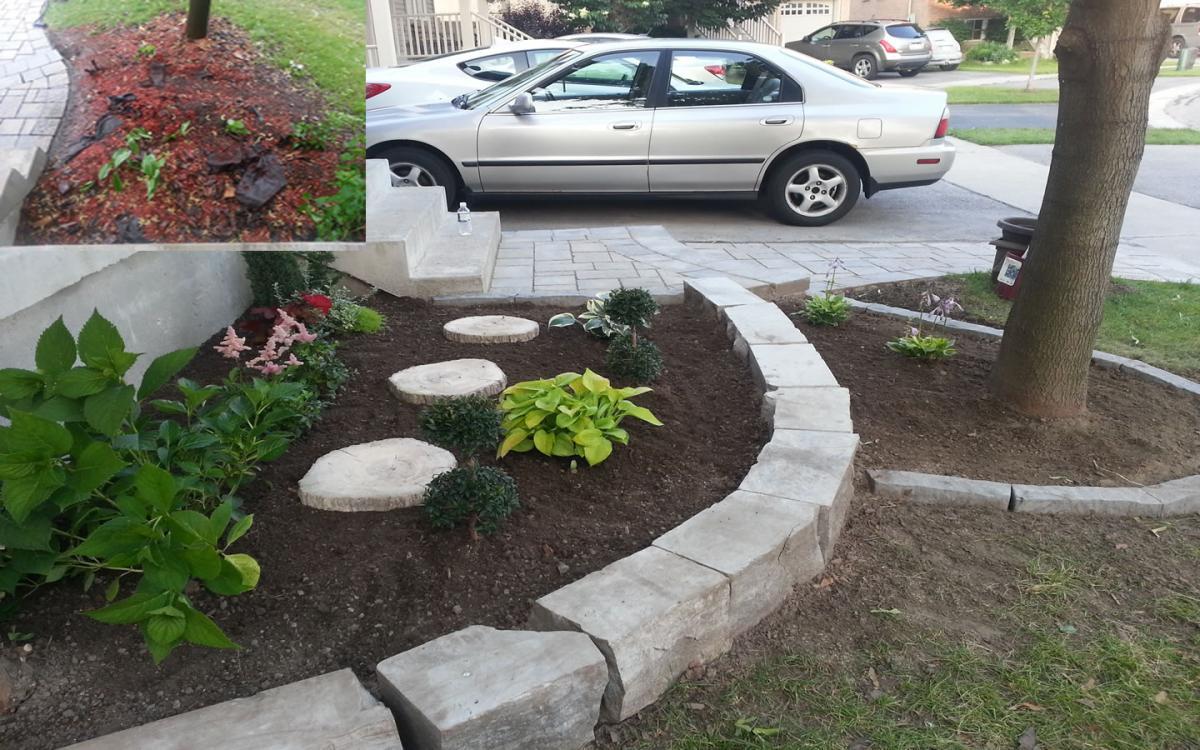 Front Yard Garden Stone Edge