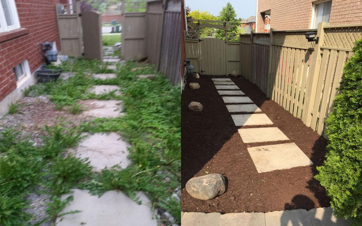 Garden Path Patio Stone Mulch