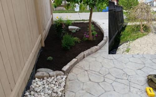 Landscaping Stone Edge Flower Bed