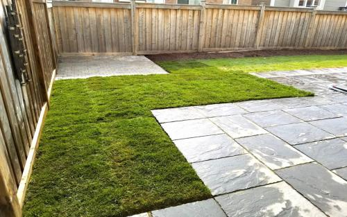 Shed Pad and Sod Install