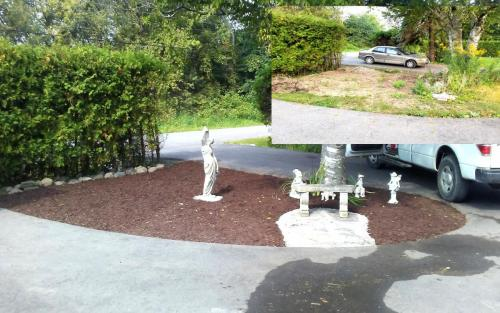 Small Front Yard Garden Bed Installation After