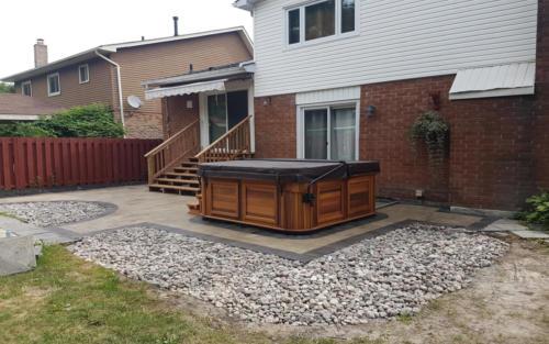 backyard hottub pad 2