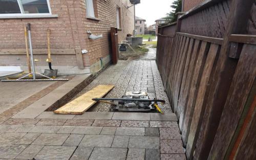 backyard paver gate entrance