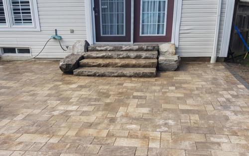 backyard stone steps
