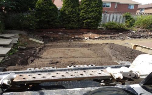 equipment backyard grading