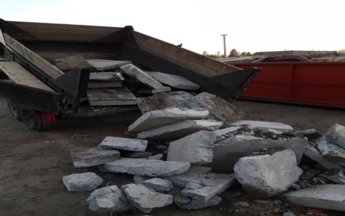 equipment concrete disposal
