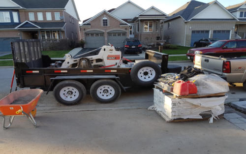 equipment trailer loading