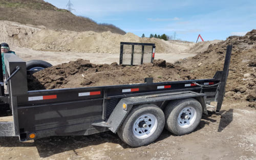 equipment trailer soil disposal