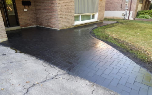front entrance modern paver