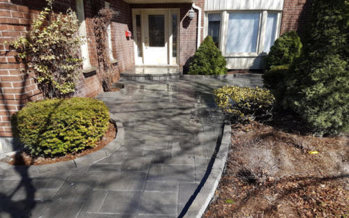 front entrance pavers