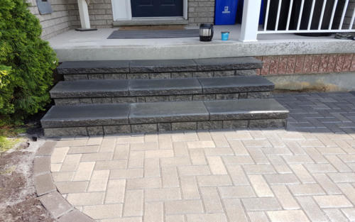 front entrance stone steps