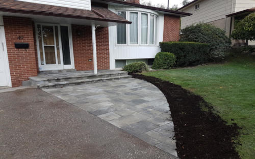 front paver entrance with overlay