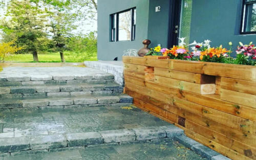 front steps paver
