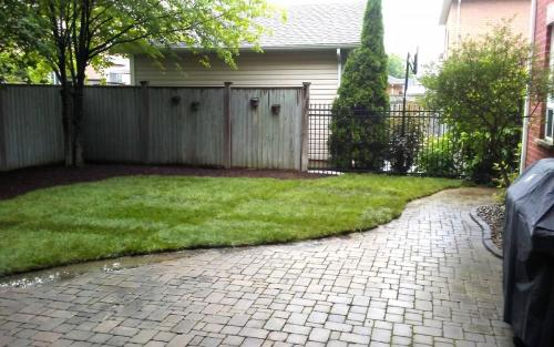 Backyard Sod Installation  Garden Bed2