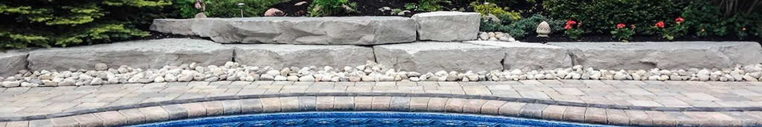 hardscaping stone pool